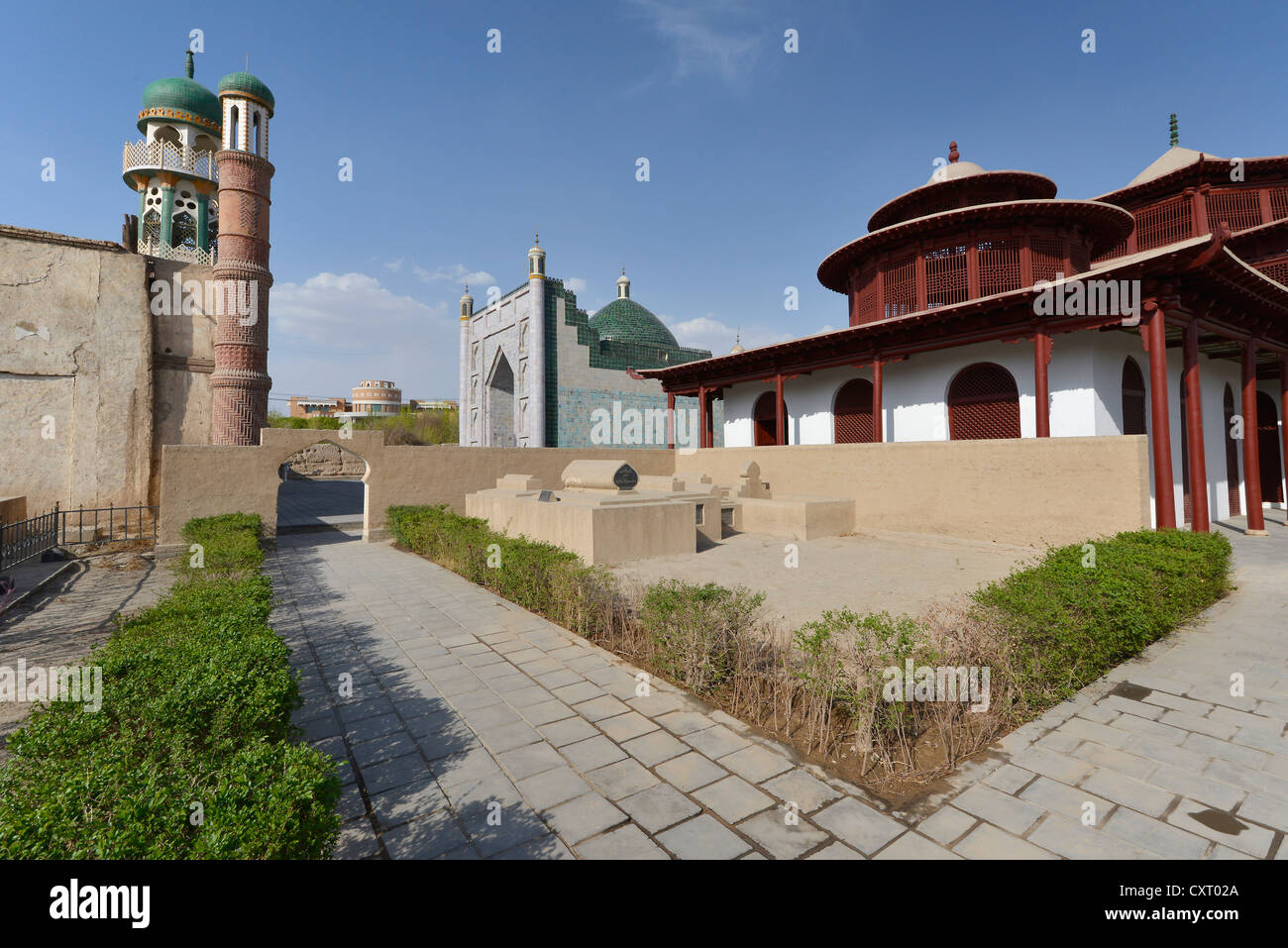 Historical Silk Road, tomb of a king, mausoleum or the Hami Uyghur Royal Family, Uighur, Kumul, Xinjiang, China, - Stock Image