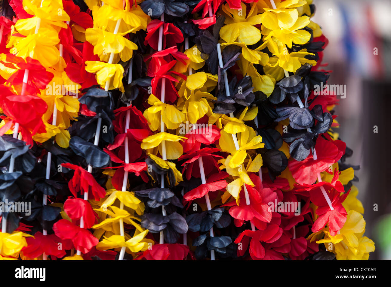 Black, red and golden ornaments, memorabilia for fans, PublicGround - Stock Image