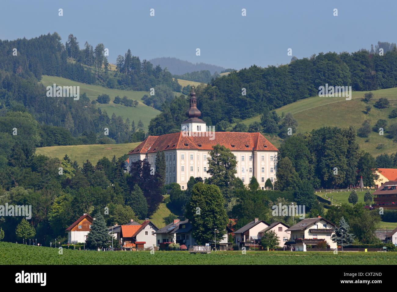 Schloss Piber Castle, municipality of Koeflach, Styria, Austria, Europe, PublicGround - Stock Image