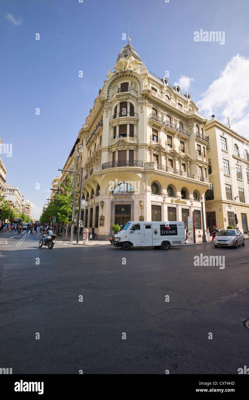 Edificio Caja Rural, Antiguo Banco Central, Granada, Andalusia, Spain, Europe, PublicGround - Stock Image