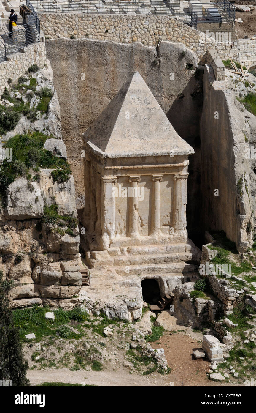 Tomb of Zechariah in the Kidron Valley, Jerusalem, Israel, Middle East Stock Photo