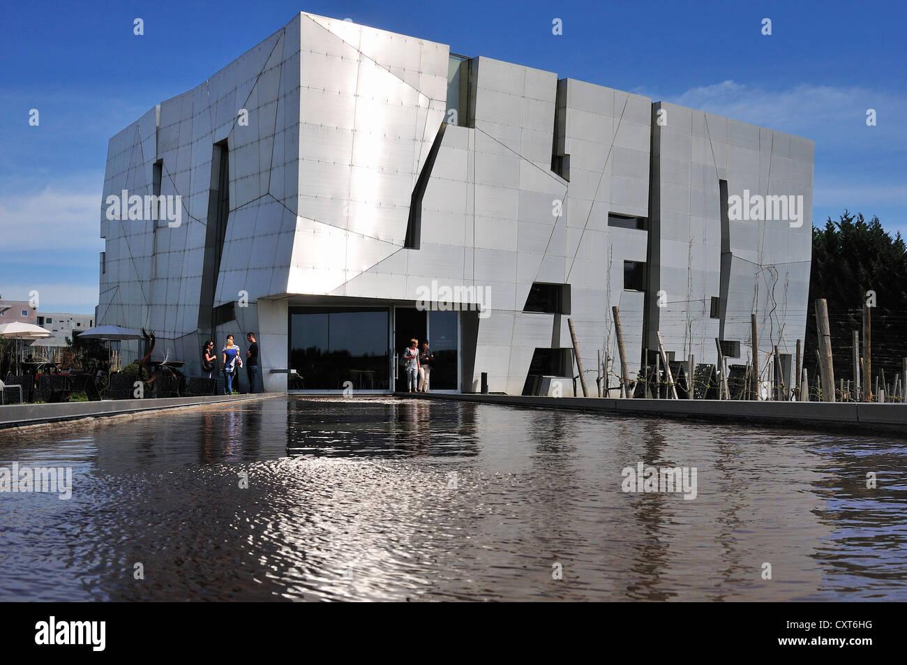 Loisium Kellerwelt building, by architect Steven Holl, Langenlois, Lower Austria, Austria, Europe - Stock Image