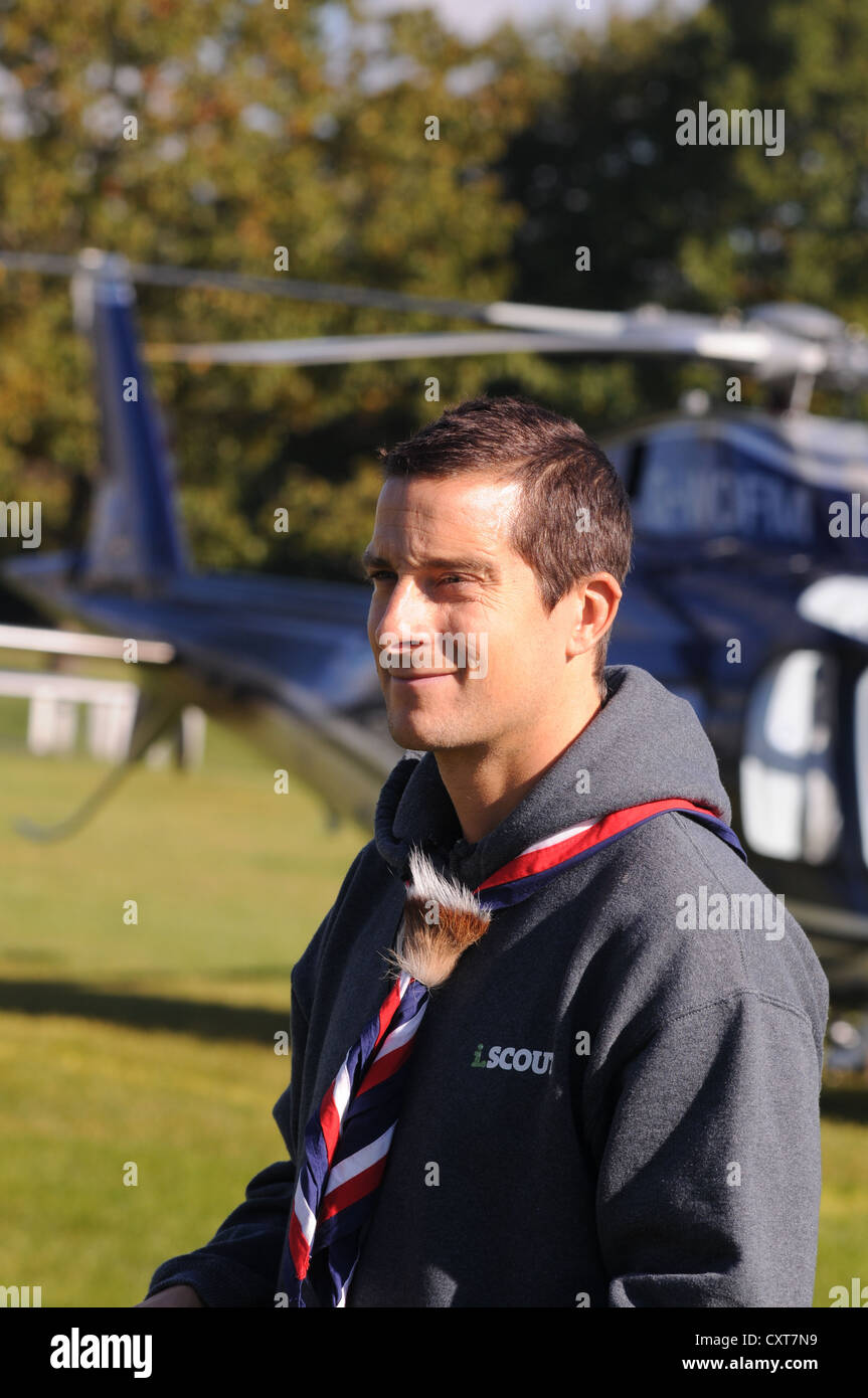 Bear Grylls, Chief Scout Adventurer and family man!  Host of Man Vs Wild,  Born Survivor & Ultimate Survival Stock Photo