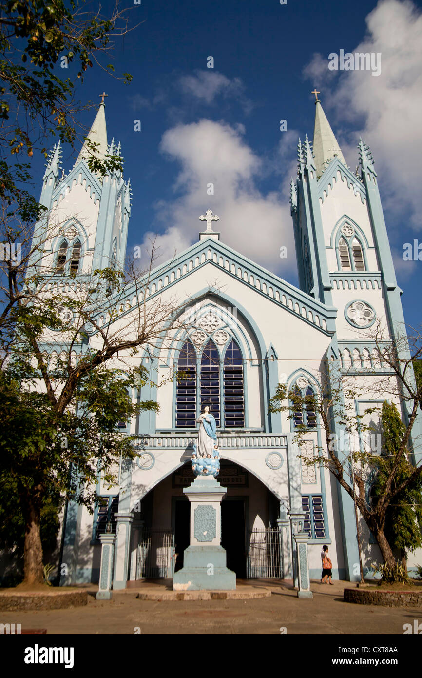 Immaculate Conception Cathedral, Puerto Princesa, the island's capital, Palawan Island, Philippines, Asia - Stock Image