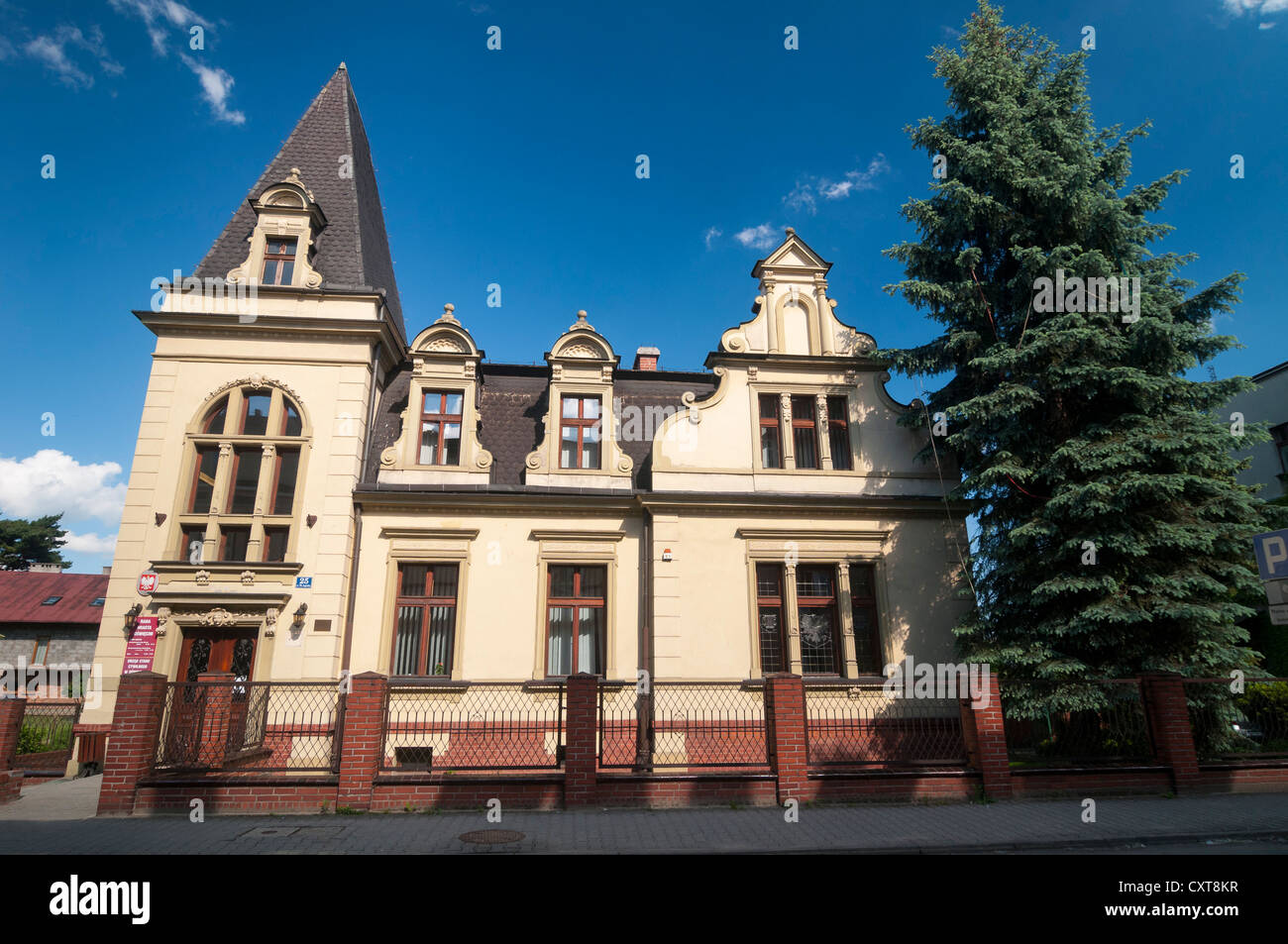 Building of the town council, Auschwitz, Oświęcim, Lesser Poland, Poland, Europe - Stock Image