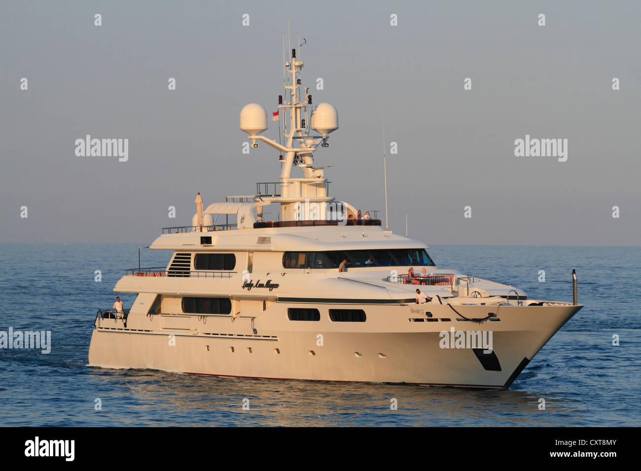 Lady Ann Magee, a cruiser built by Codecasa, length: 49.90 meters, built in 2001, Monaco, French Riviera, Mediterranean - Stock Image