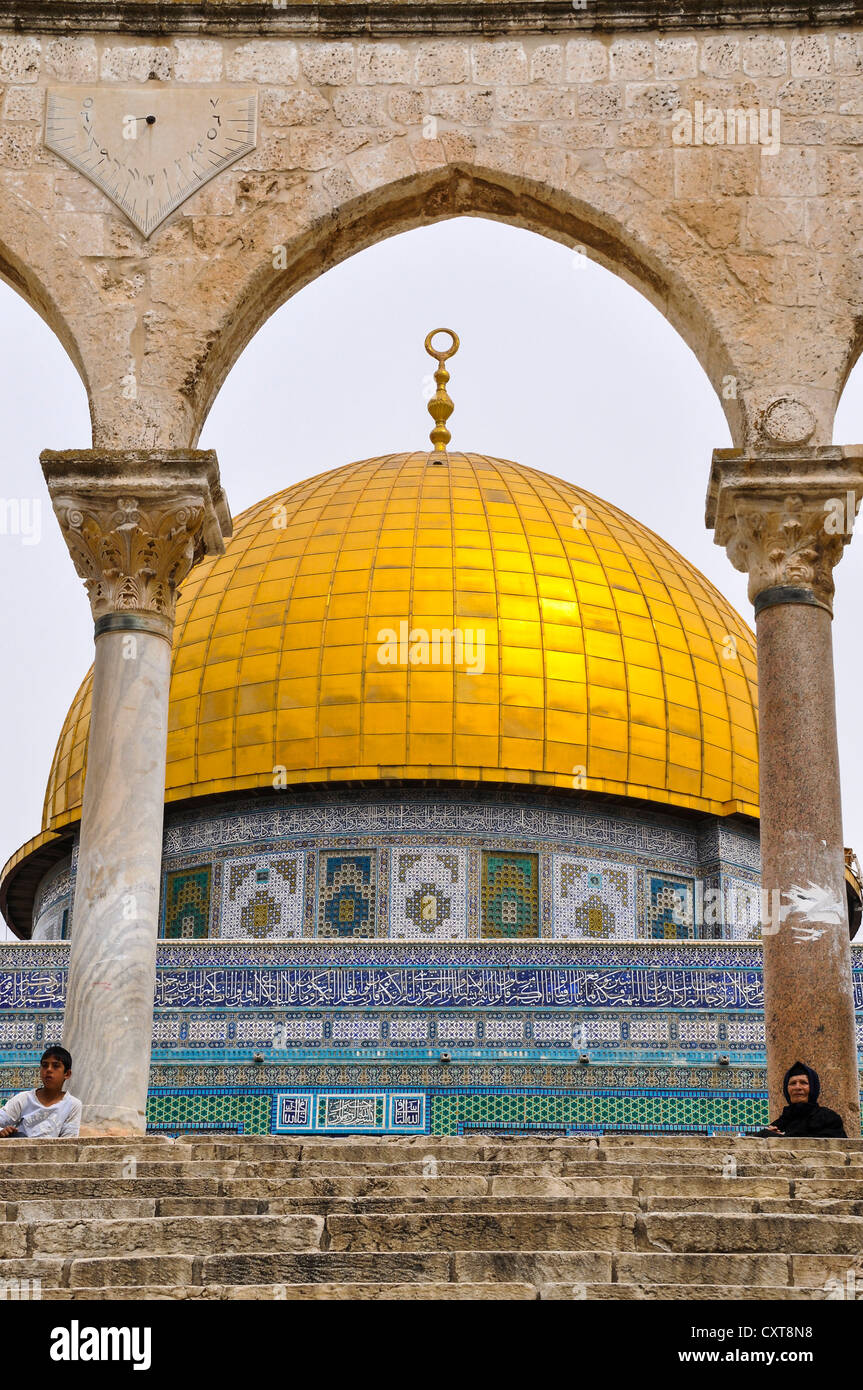 Dome of the Rock, Temple Mount, Old City of Jerusalem, Israel, Middle East, Southwest Asia - Stock Image