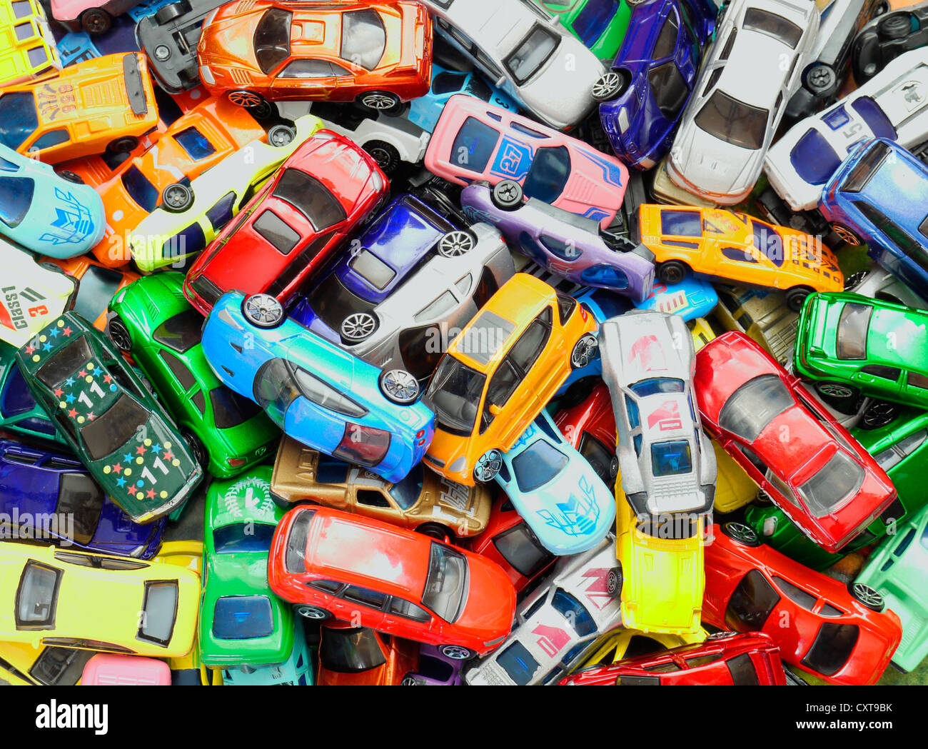 lots of toy cars in a pile stock photo 50936023 alamy. Black Bedroom Furniture Sets. Home Design Ideas