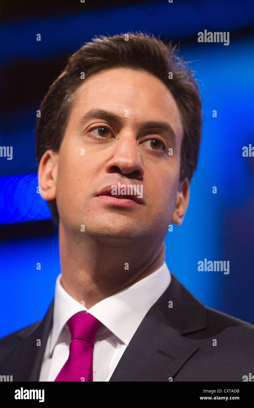 Ed Miliband at the Labour Party conference - Stock Image