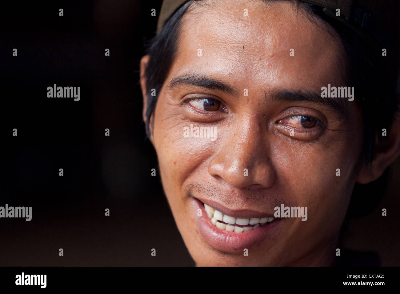 Close up portrait of an indonesian man in banjarmasin in south kalimantan indonesia