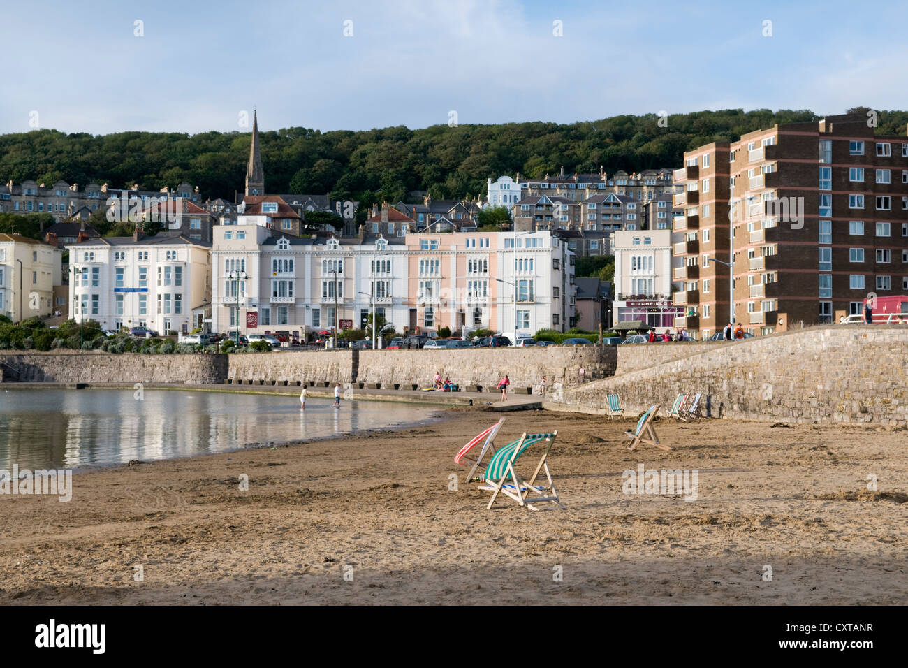 Weston Super Mare beach and sea front, England, UK - Stock Image
