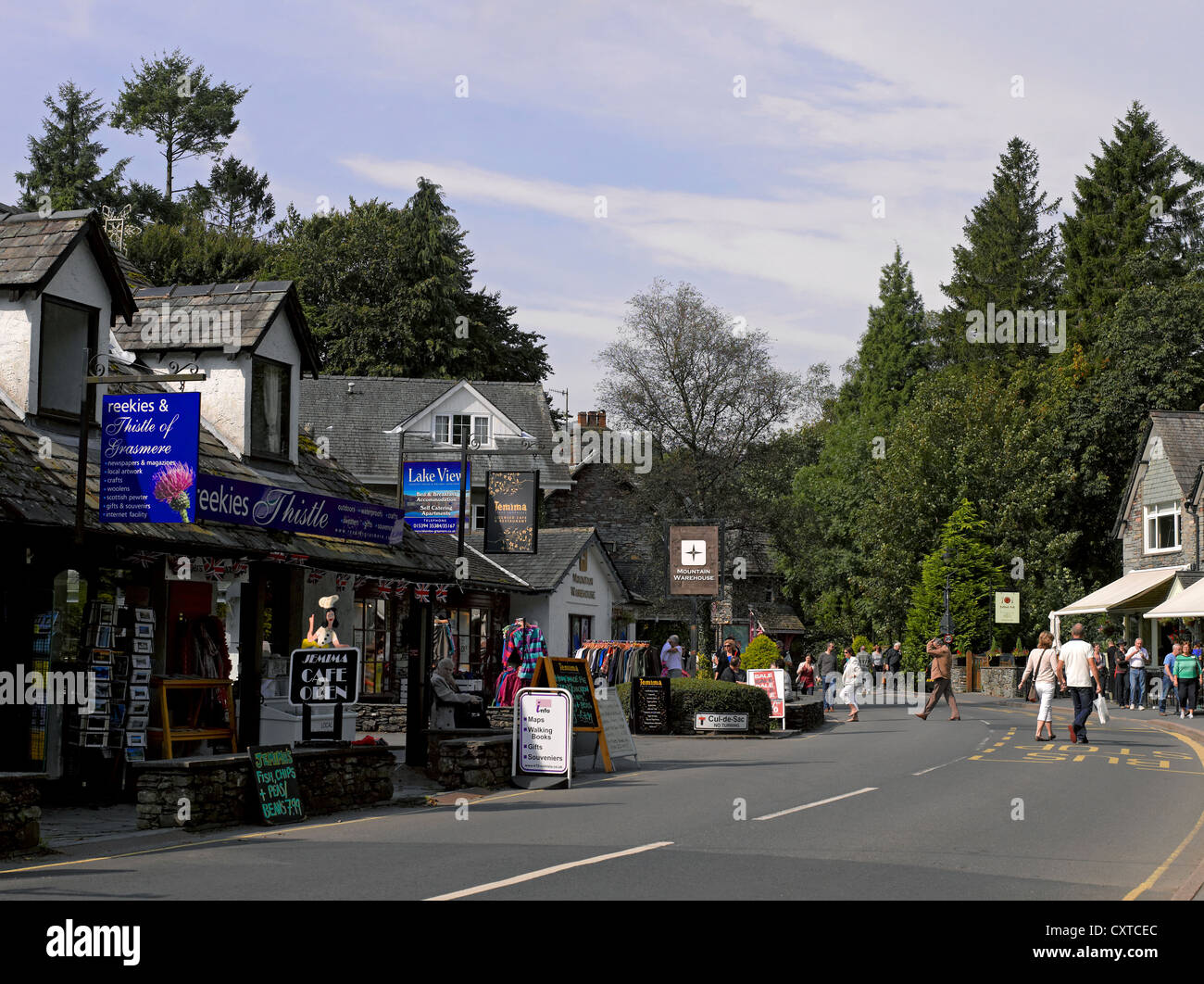 Grasmere village Cumbria England UK United Kingdom GB Great Britain - Stock Image