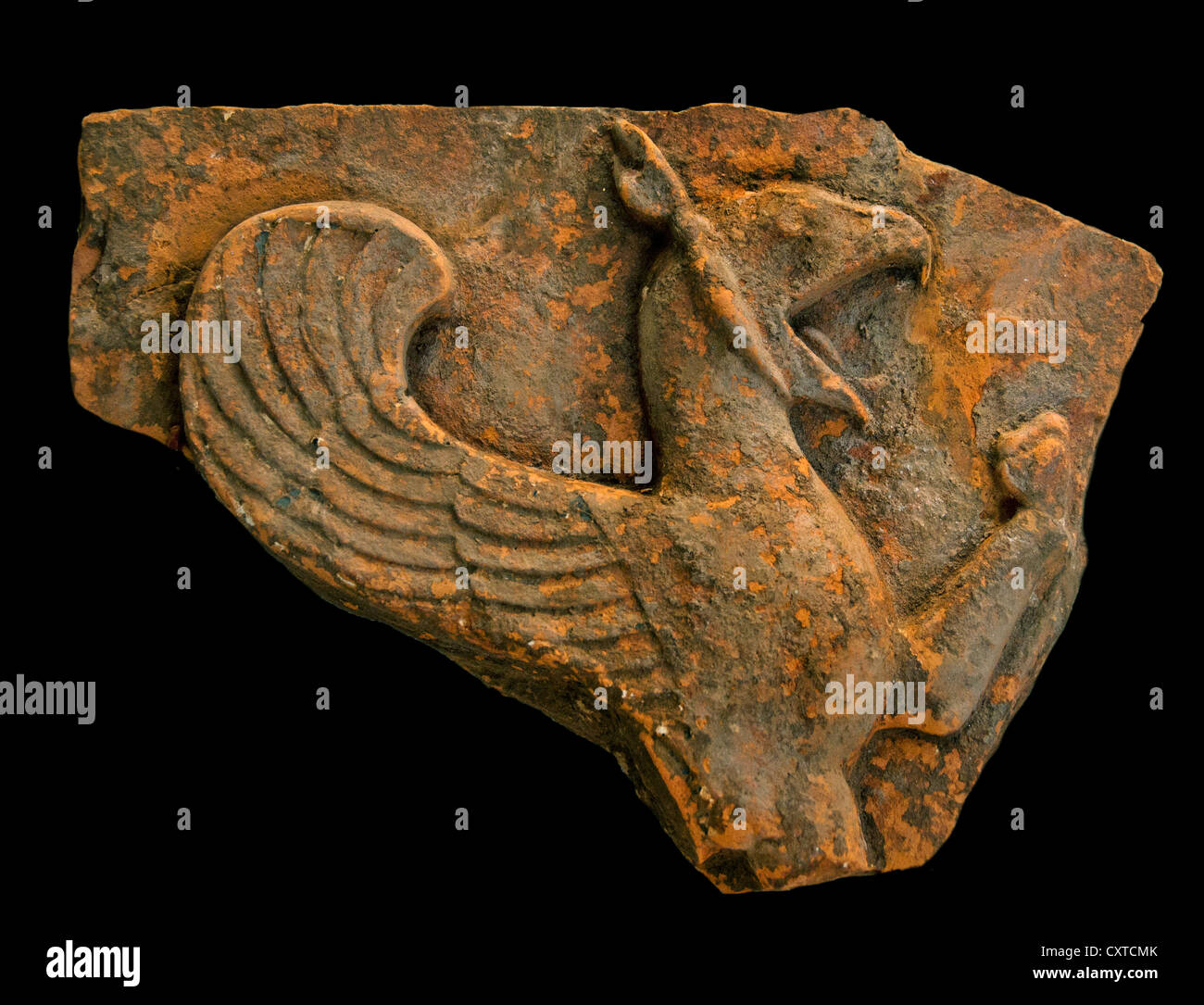 Terracotta revetment with a griffin 6th century B.C. Lydian East Greek Lydia Anatolia Turkey - Stock Image