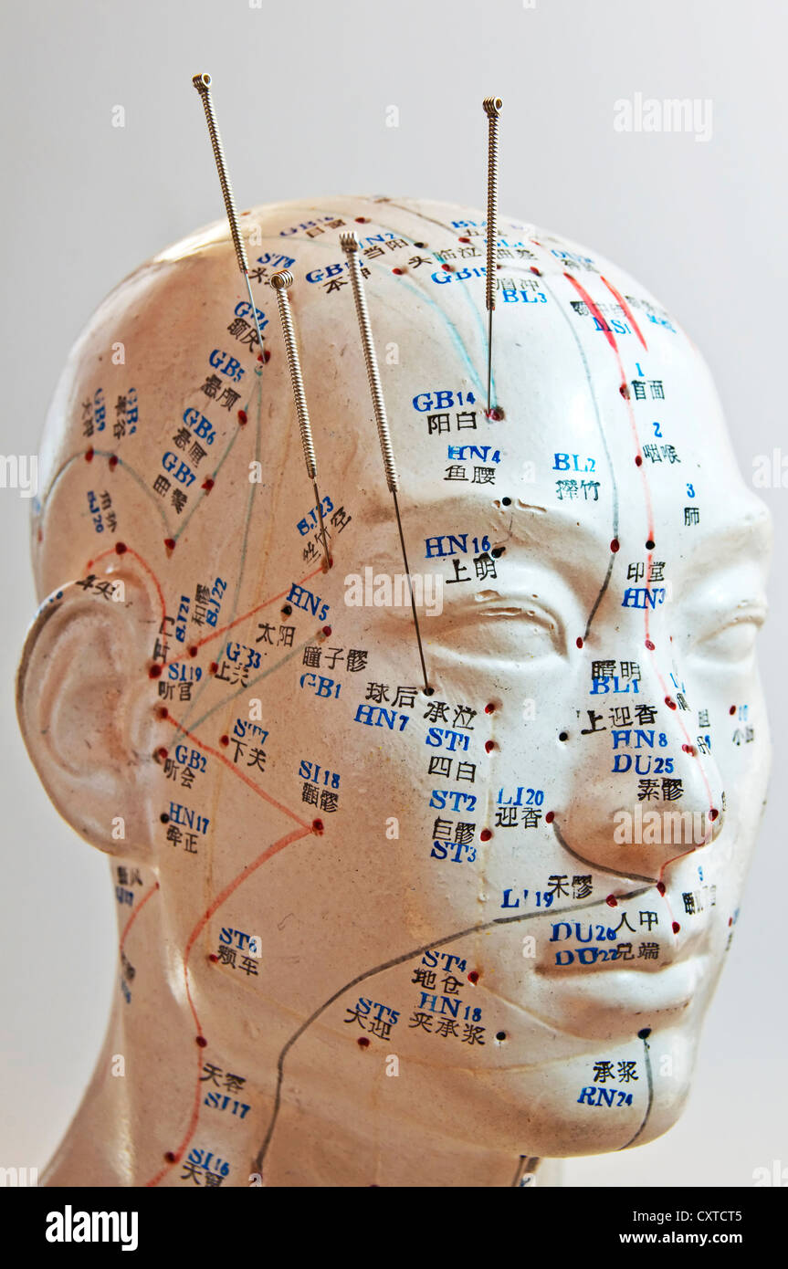 Chinese Acupuncture Needles Stock Photos & Chinese Acupuncture