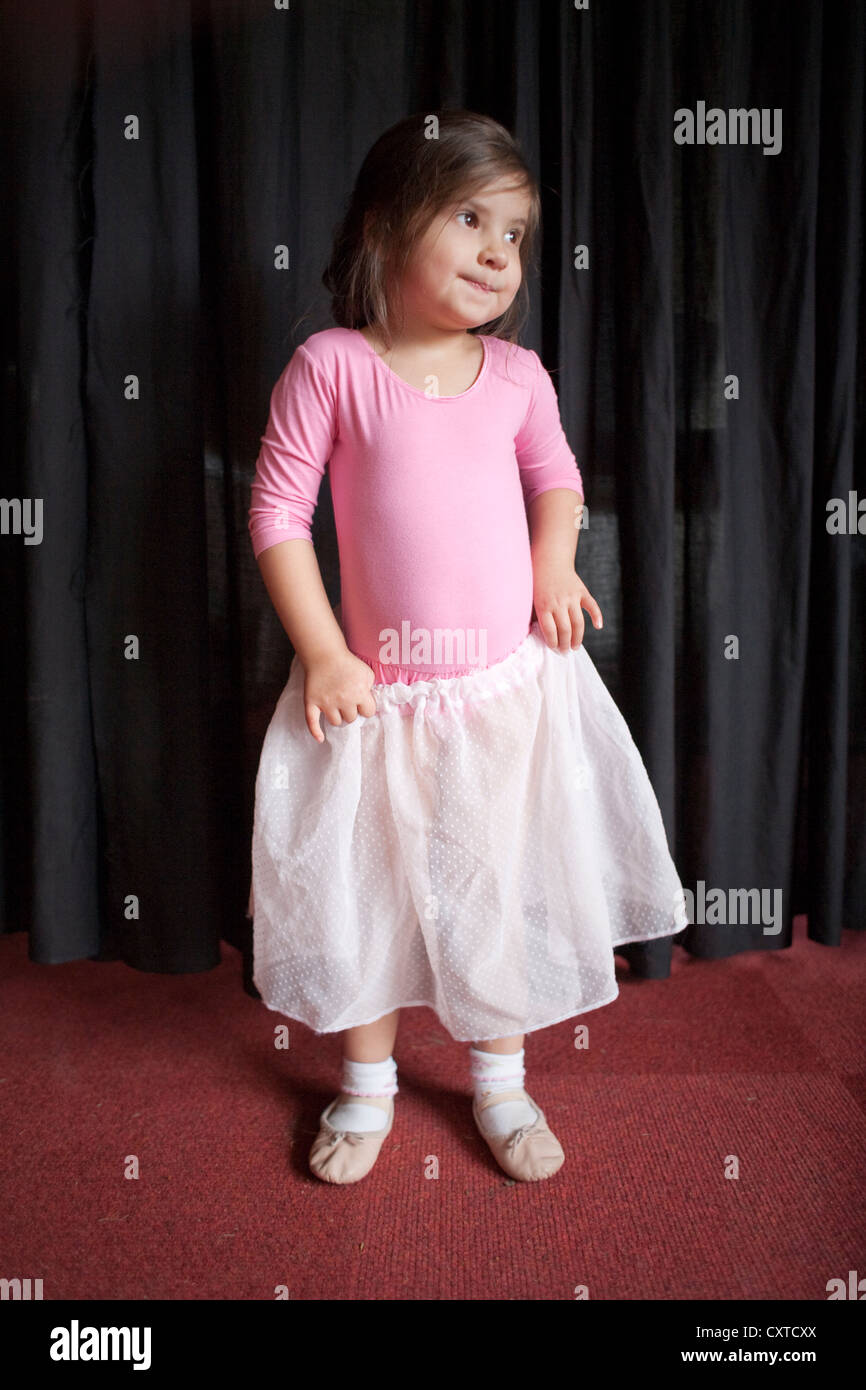 5f1395f5843248 Portrait of young girl wearing ballet leotard and tutu Stock Photo ...
