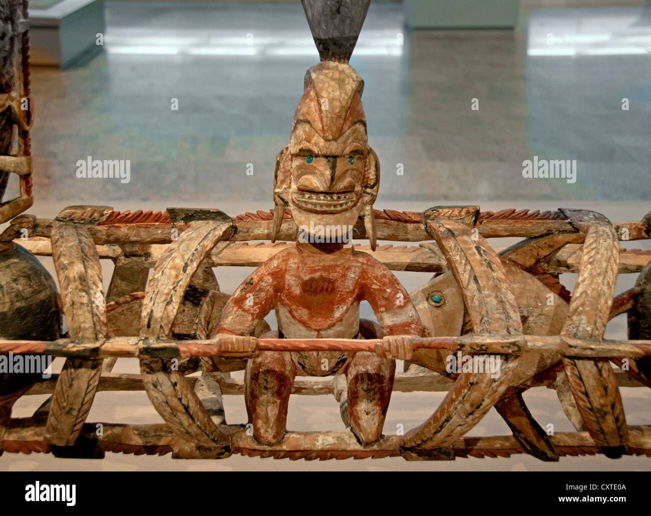 Malanggan New Ireland Papua New Guinea Oceania Museum - Stock Image
