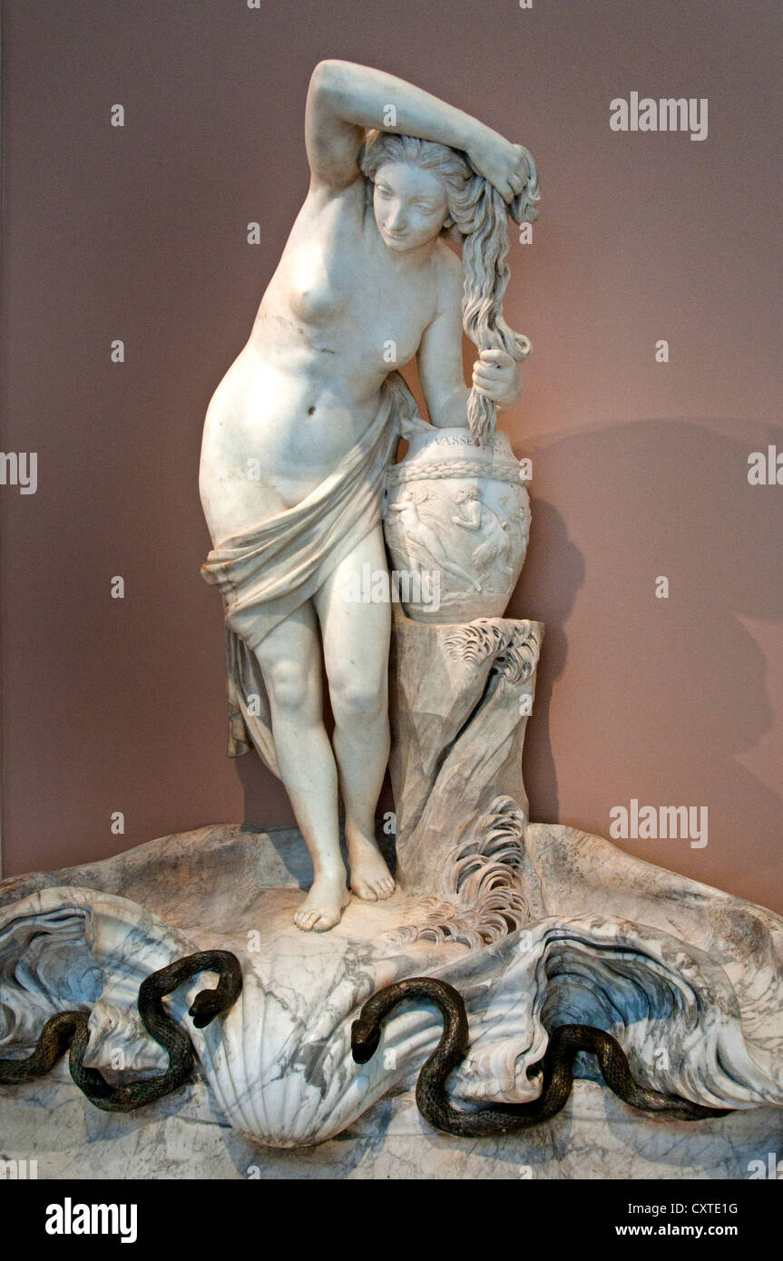 The Nymph of Dampierre Marble 1763 Louis Claude Vasse France French Stock Photo