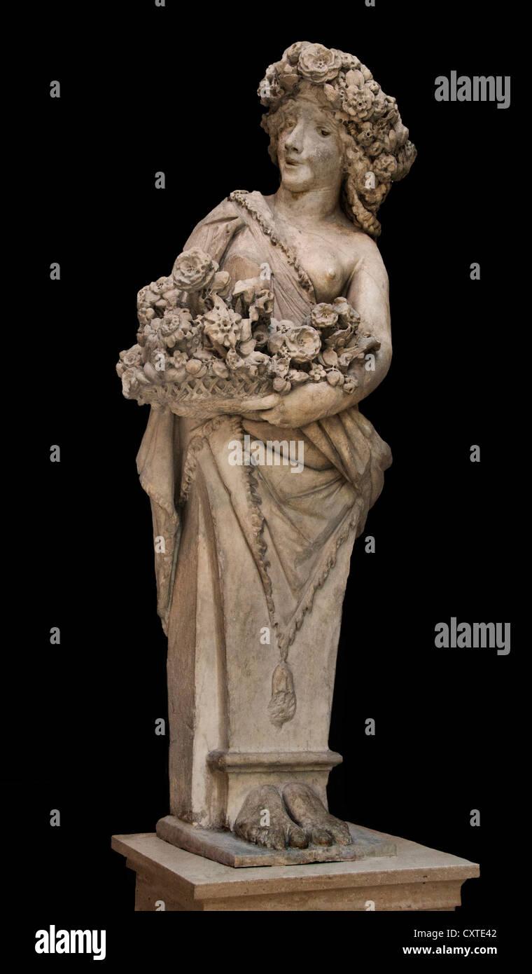 Flora  Priapus Marble Pietro Bernini Italian 1562–1629 Italy Rome - Stock Image