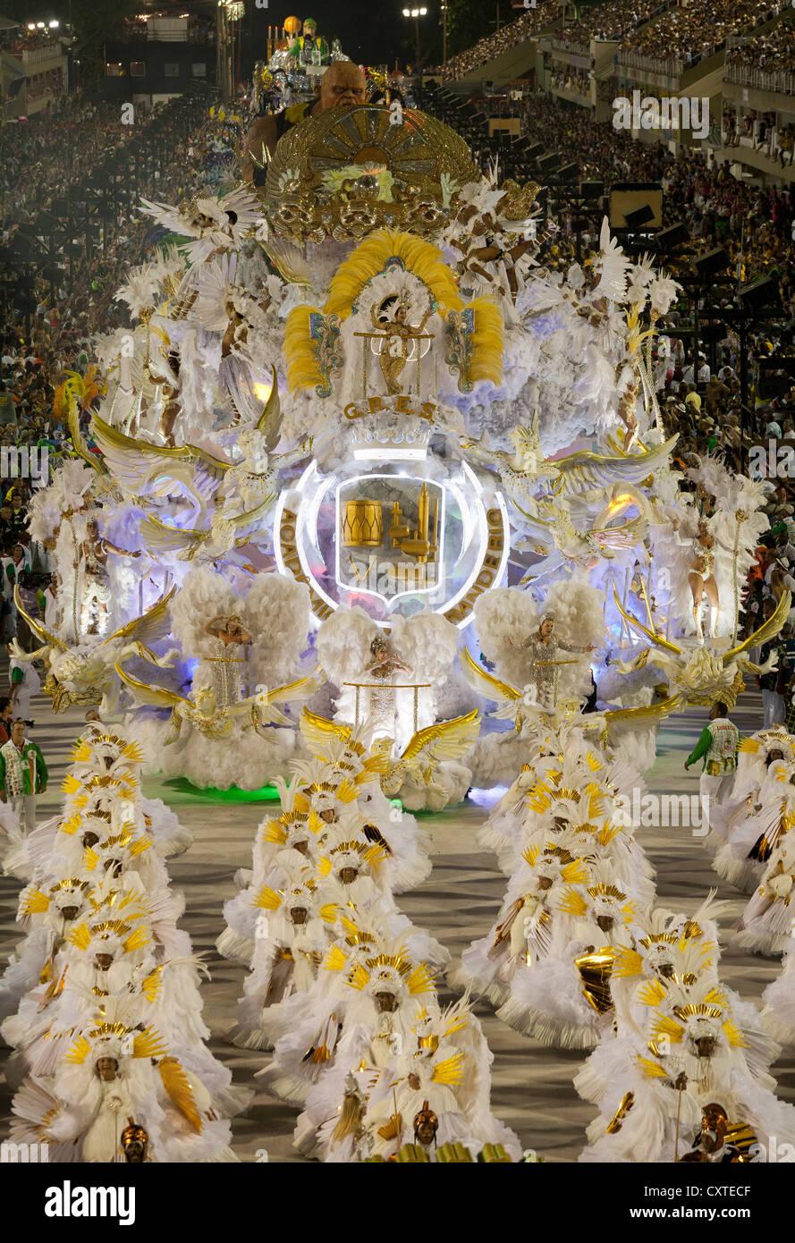 Elaborate Float in Carnival Rio de Janeiro Brazil - Stock Image