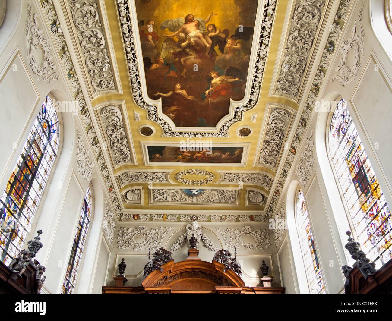 Interior of Trinity College Chapel, Oxford 2 - Stock Image