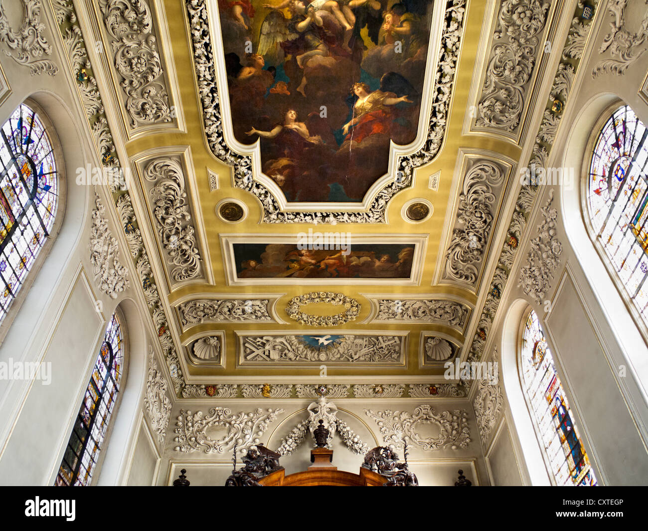 Interior of Trinity College Chapel, Oxford 4 - Stock Image