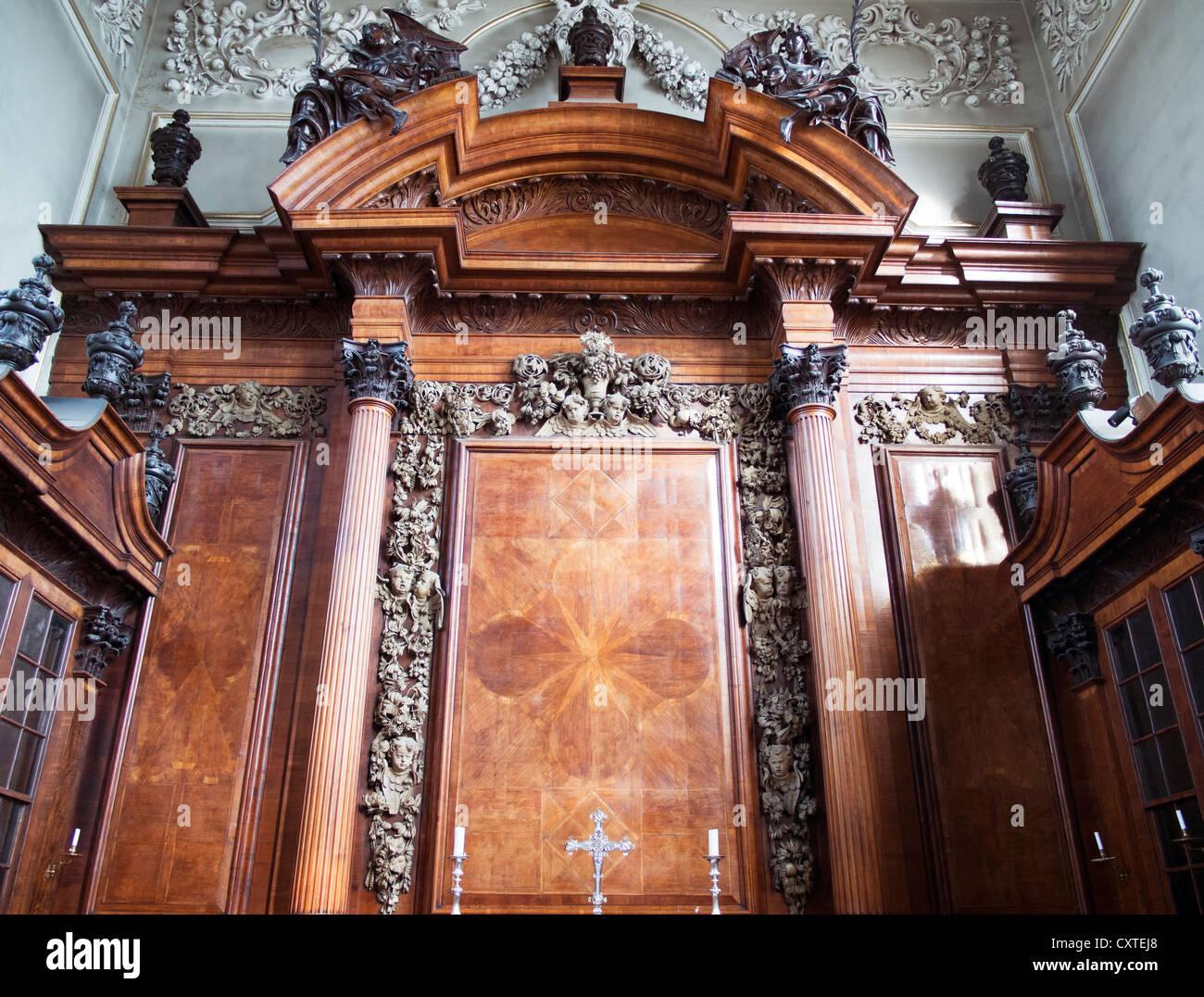 Interior of Trinity College Chapel, Oxford 5 - Stock Image