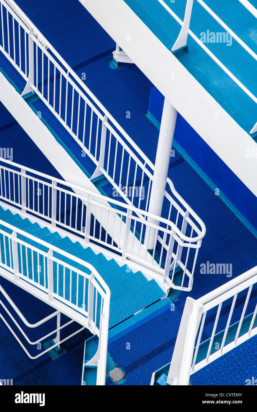 Blue Steps To Success: Stair Ship Stairs Stock Photos & Stair Ship Stairs Stock