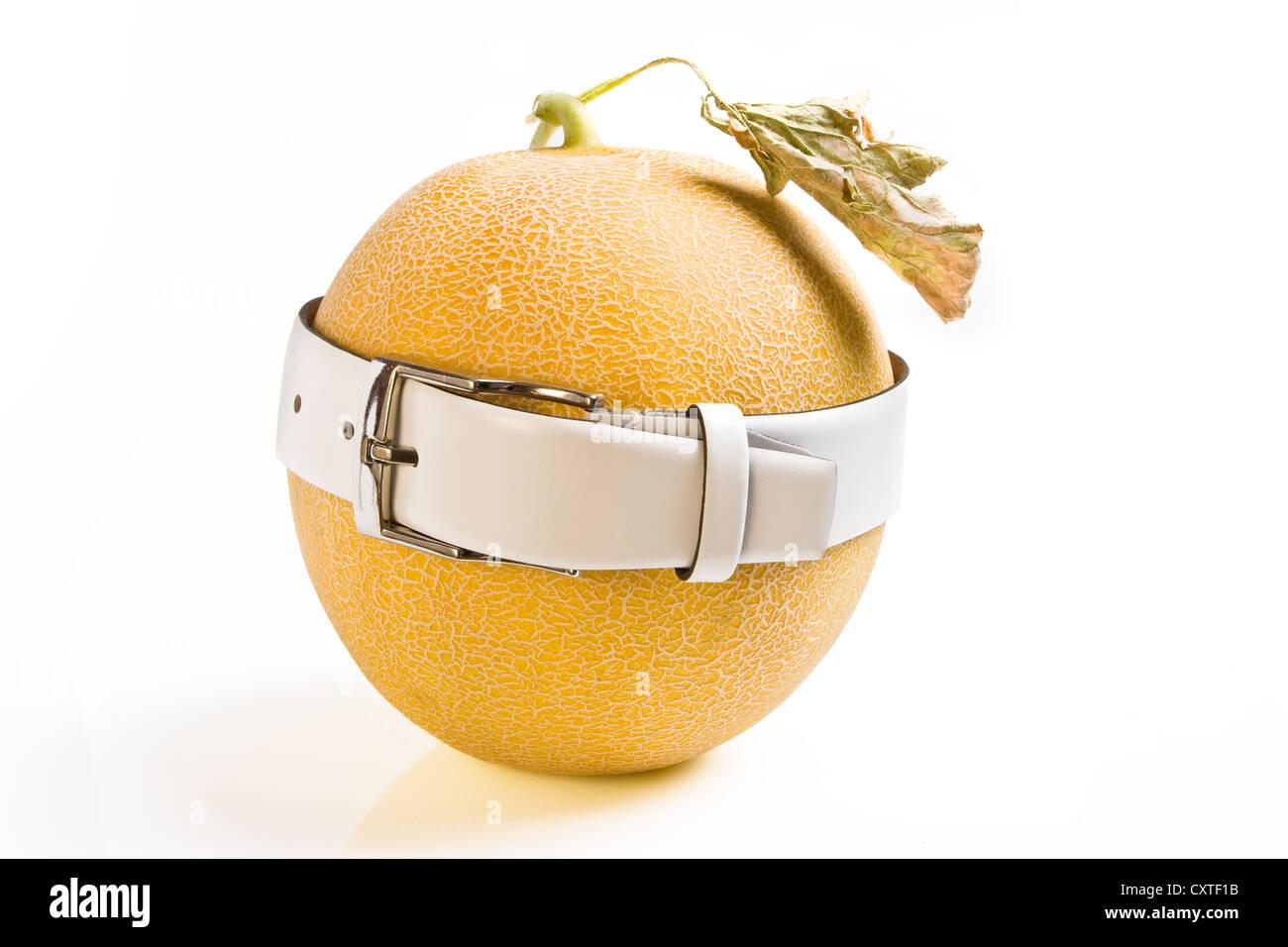 Fat wrinkle melon - Stock Image