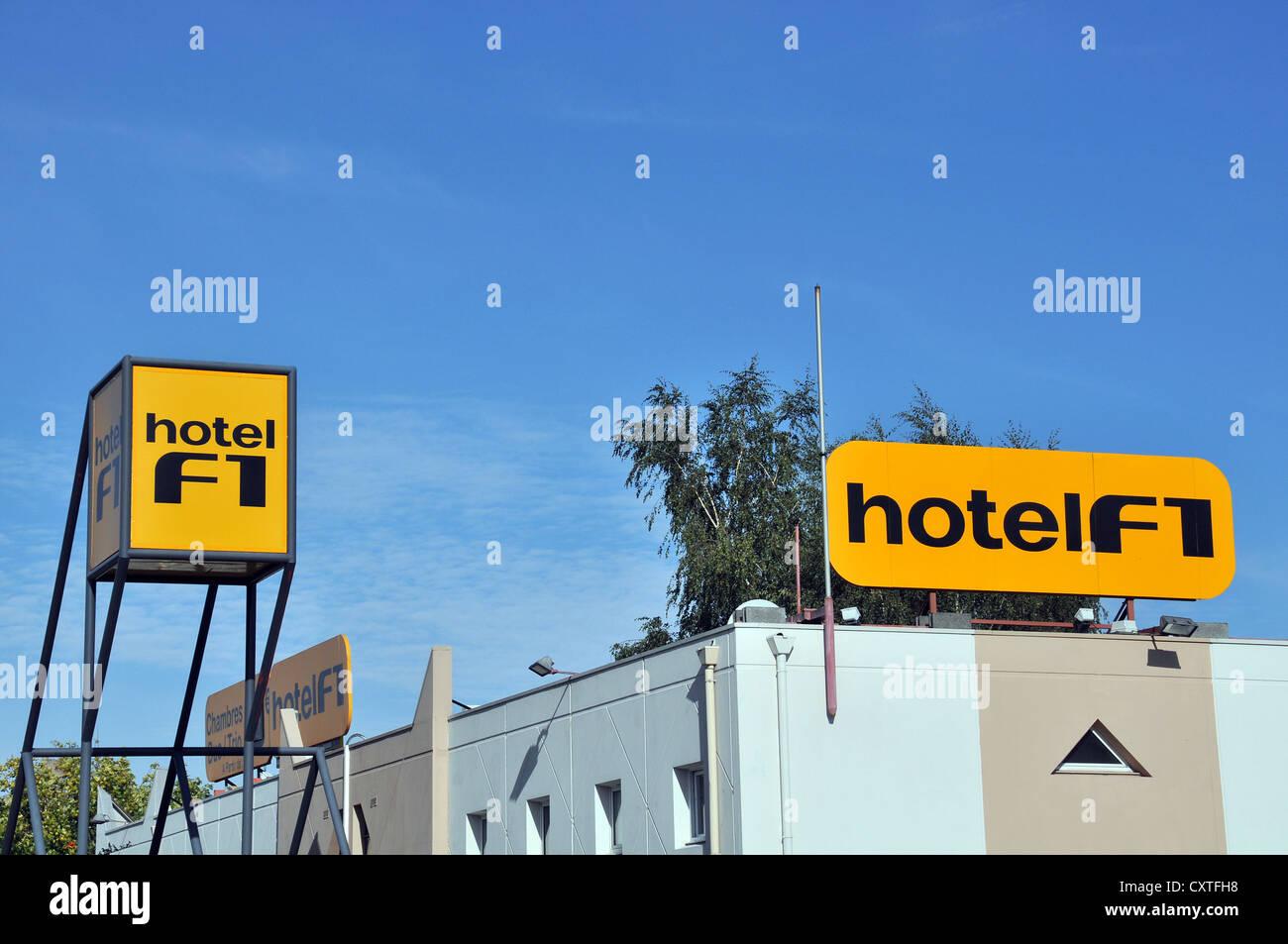 hotel F1 Coudes Auvergne Massif Central France - Stock Image