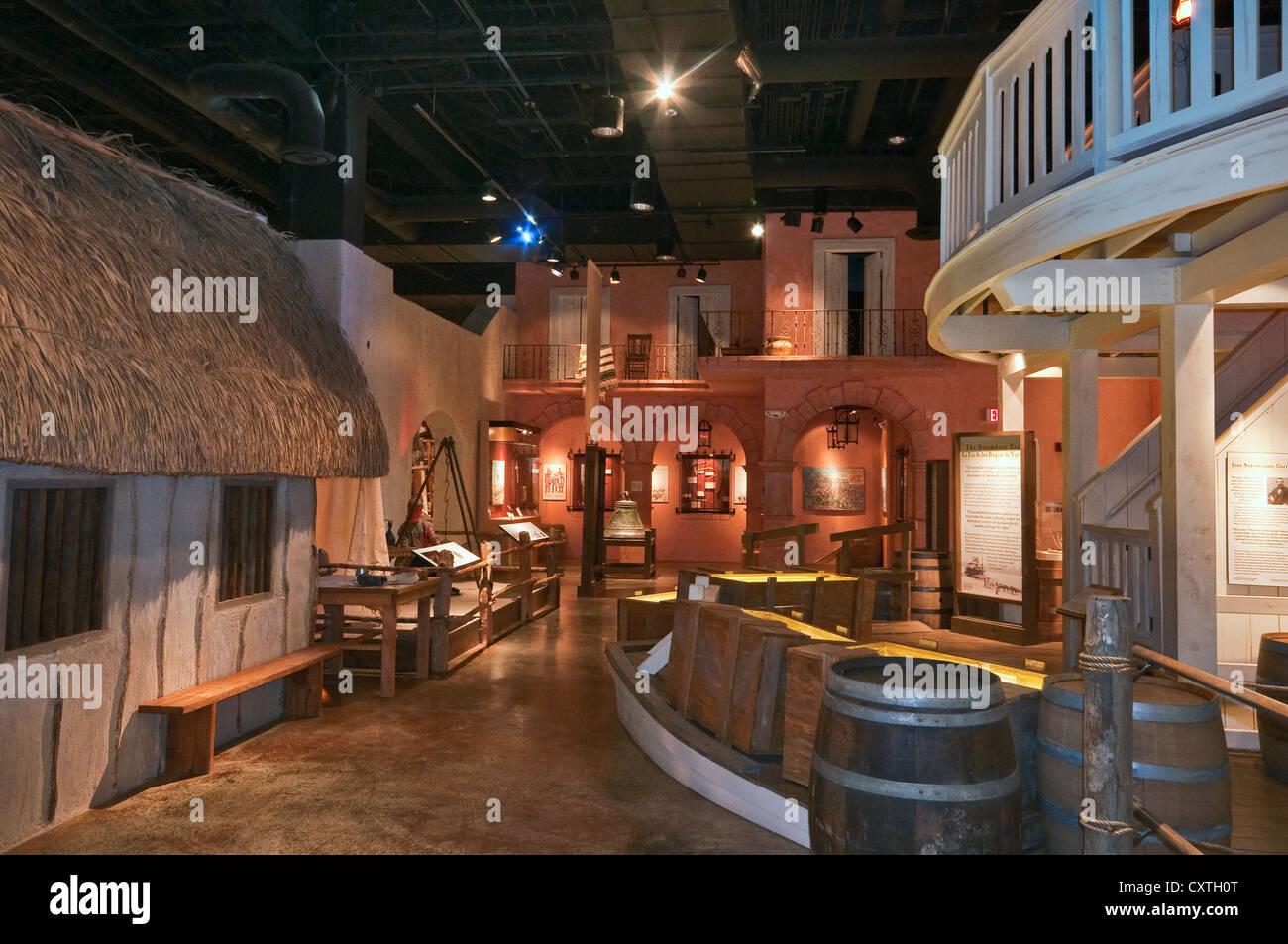 Exhibition room at Museum of South Texas History, Edinburg, Rio Grande Valley, Texas, USA - Stock Image