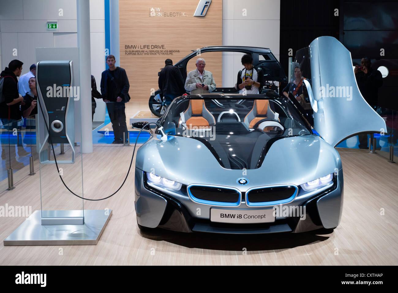 BMW electric i8 prototype car at Paris Motor Show 2012 - Stock Image