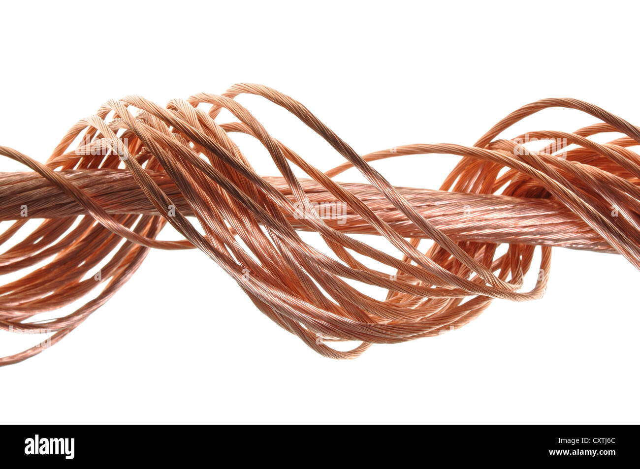 Swirl copper wire isolated on white background Stock Photo: 50942932 ...