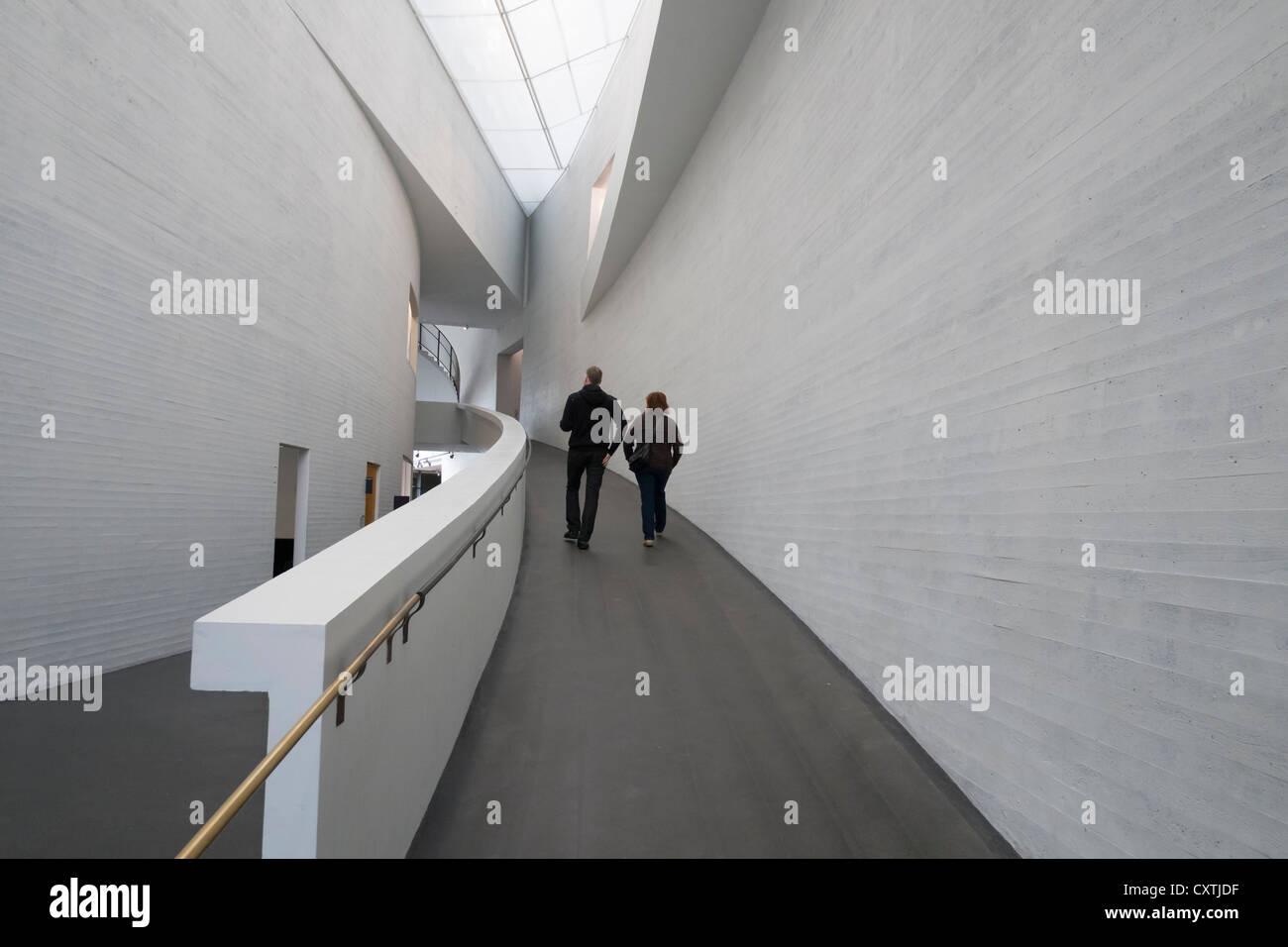 Interior of Kiasma contemporary art museum in Helsinki Finland - Stock Image