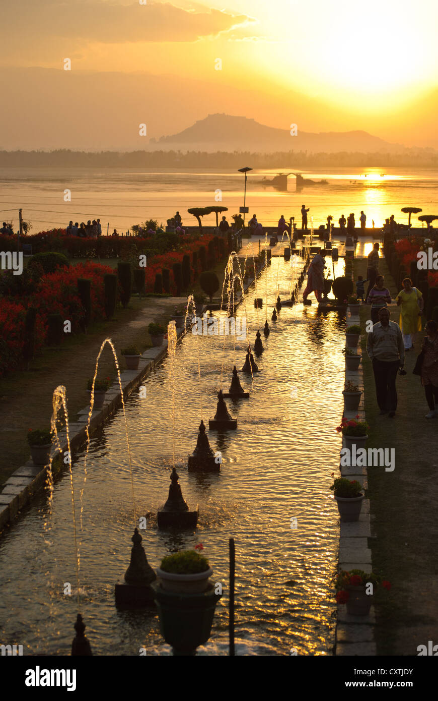 Terrace of Nishat Garden, Dal Lake, Srinagar Stock Photo: 50943143 ...