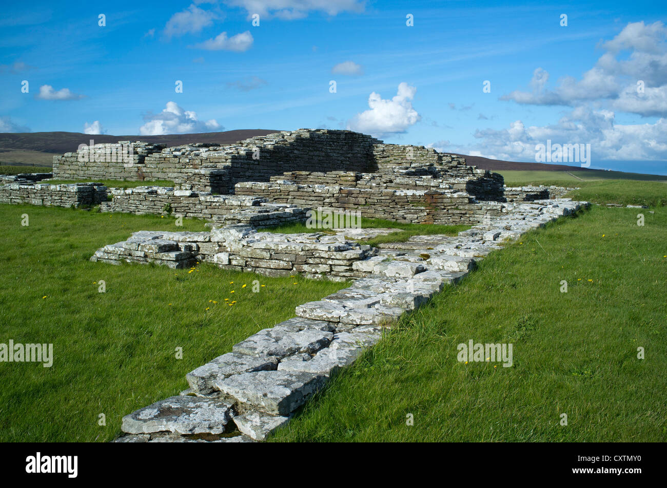 dh Cubbie Roos Castle WYRE ORKNEY Viking ruins norse castle archaeology vikings scotland - Stock Image