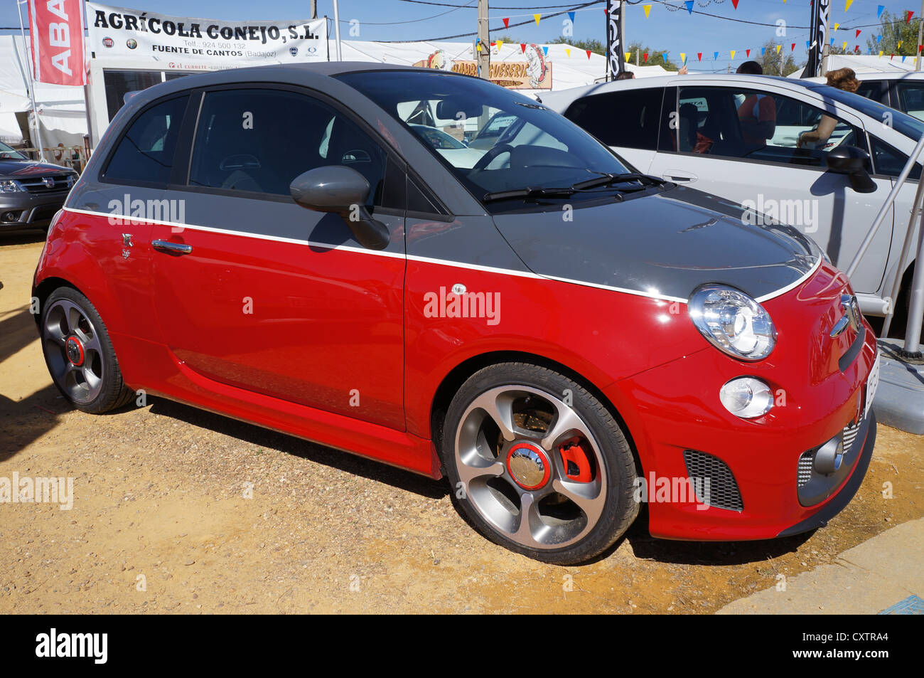 the fair International Livestock agro-industrial exhibition, view transportation car at Zafra, Badajoz, Spain Stock Photo