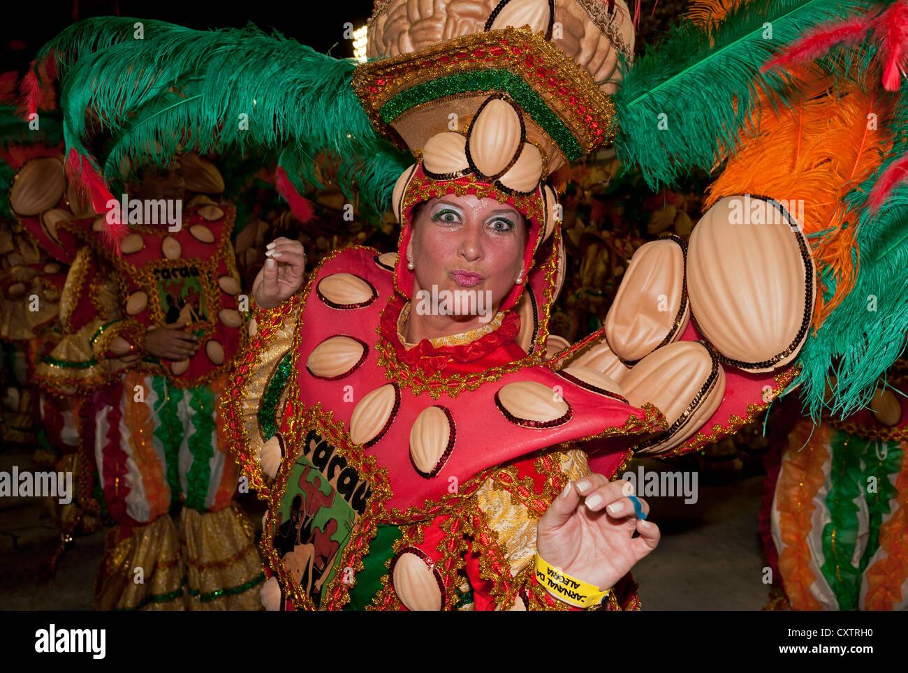 Reveller Carnival Rio de Janeiro Brazil - Stock Image