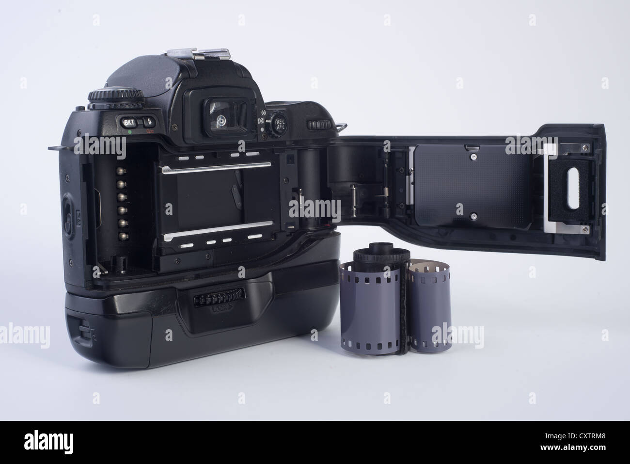 an old analogic camera with film - Stock Image