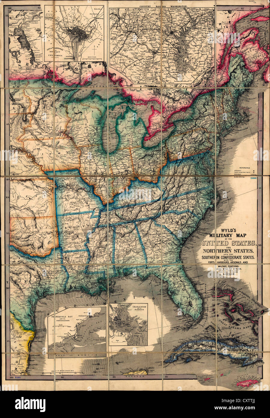 Map Of United States Civil War Stock Photos & Map Of United States ...
