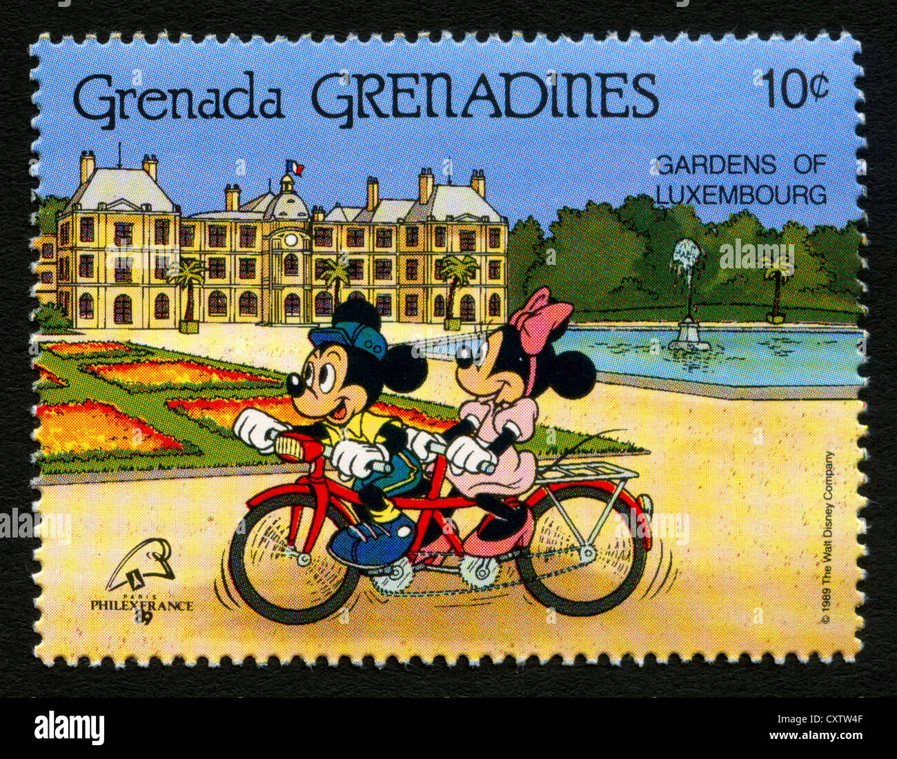 Grenada postage stamp - Disney cartoon characters - Mickey ...
