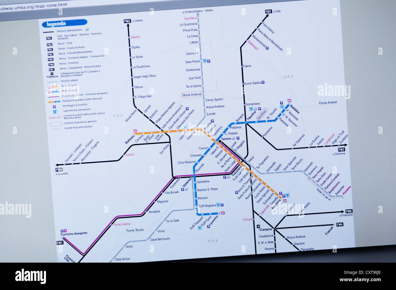 What The Roman Empire Would Look Like If It Was A Subway Map.Rome Metro Website Subway Map Information Stock Photo 50948758