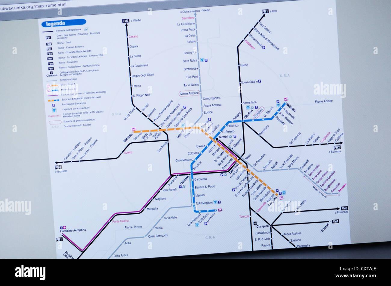 Rome Italy Subway Map.Subway Map Rome Italy Stock Photos Subway Map Rome Italy Stock