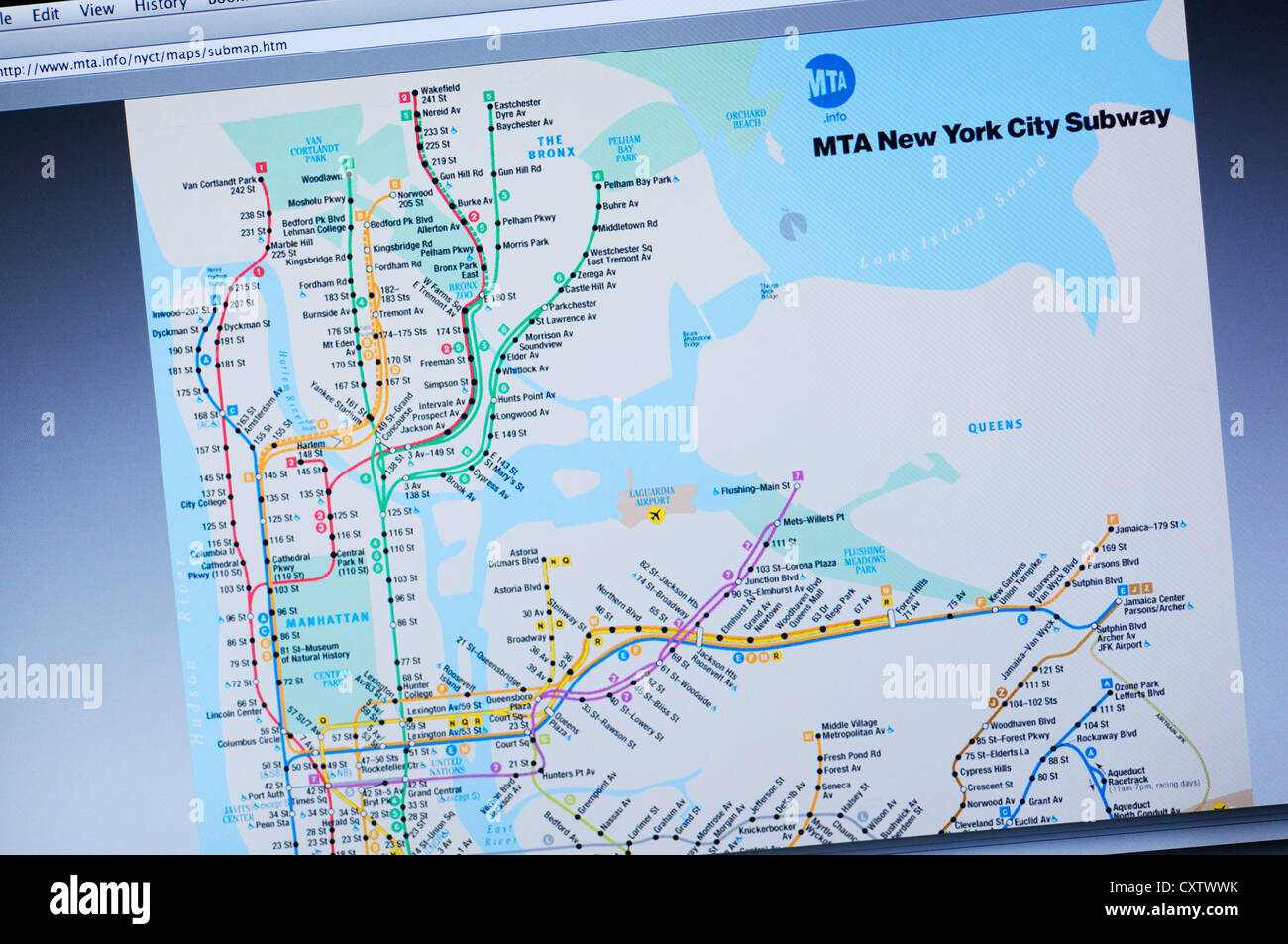 New York City Metro Map Stock Photos & New York City Metro
