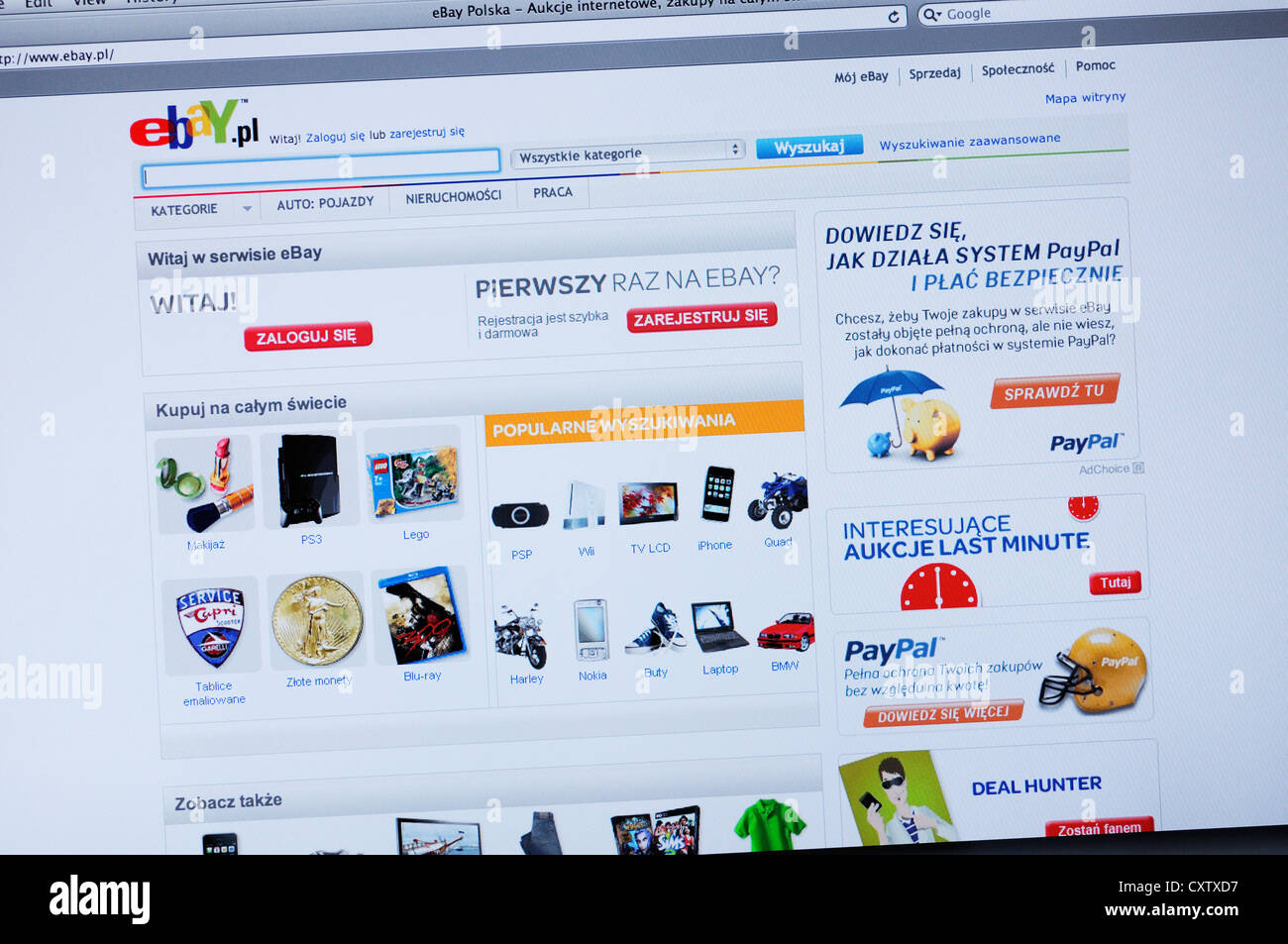 Ebay Poland Website Online Shopping Stock Photo 50949395 Alamy
