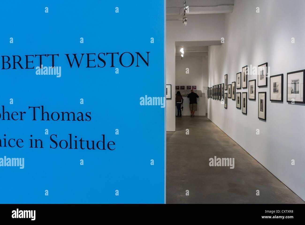New York City, NY, USA, Sign Window, Contemporary Art Galleries, 'Brett Weston' Photographs, Chelsea Area, - Stock Image