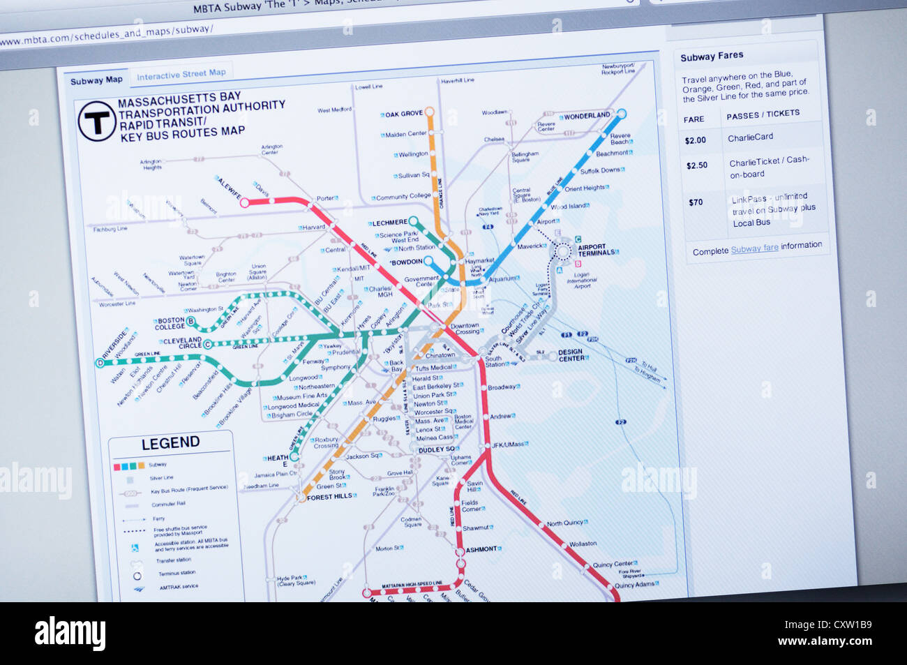 Alewife Subway Map.Subway Map Website Stock Photos Subway Map Website Stock Images