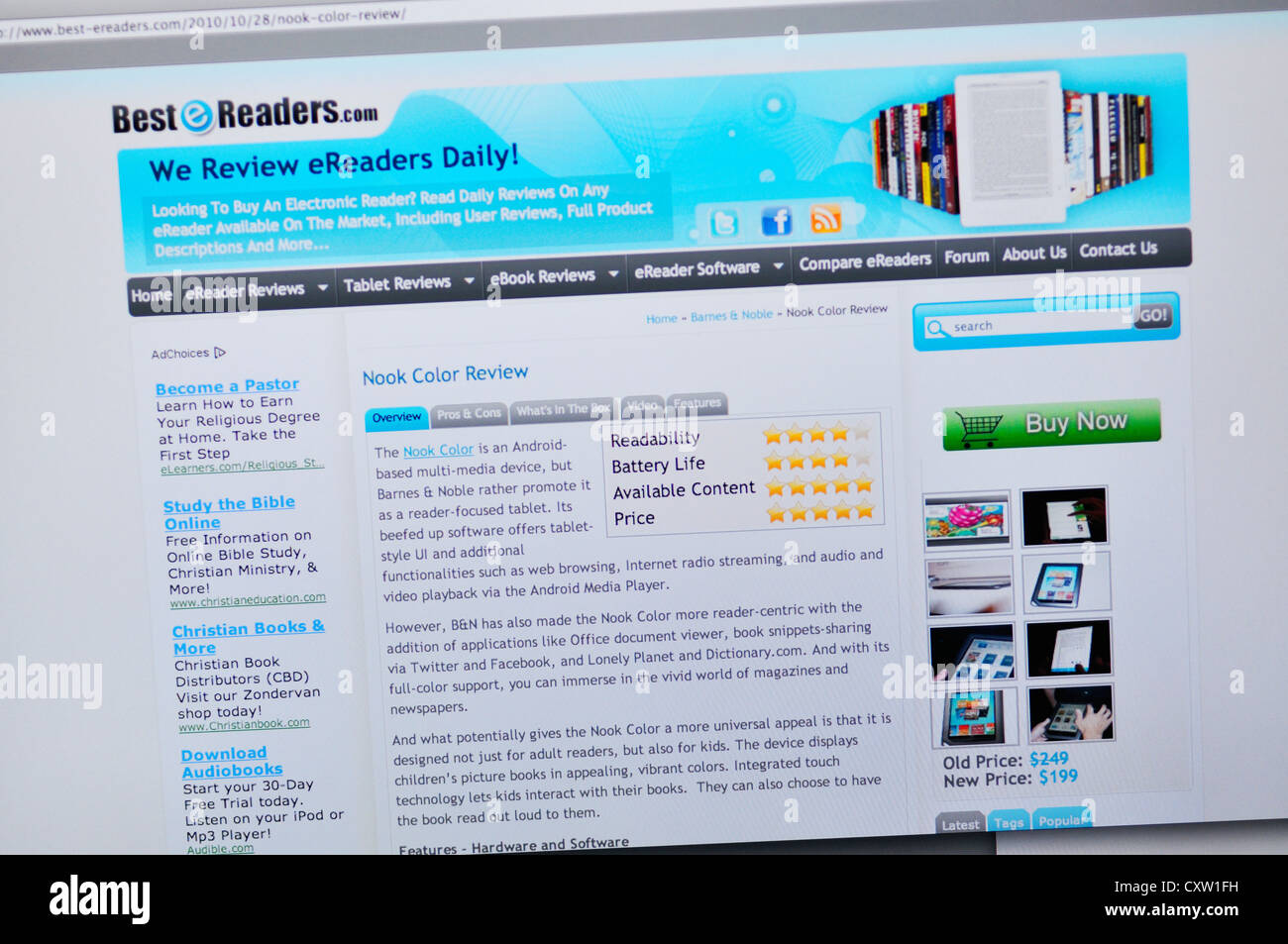 best ereaders website ereader reviews stock image