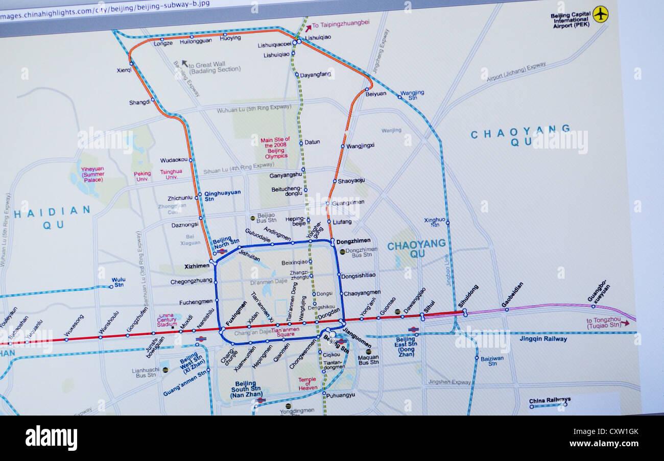 Beijing Interactive Subway Map.Subway Map Stock Photos Subway Map Stock Images Page 3 Alamy
