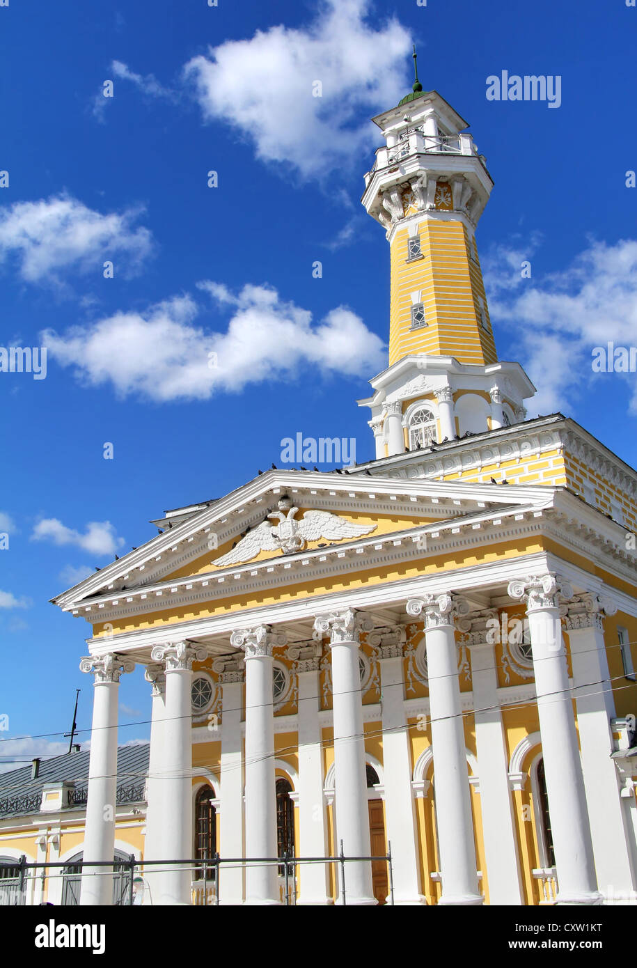 Fire lookout tower in Kostroma, Russia - Stock Image