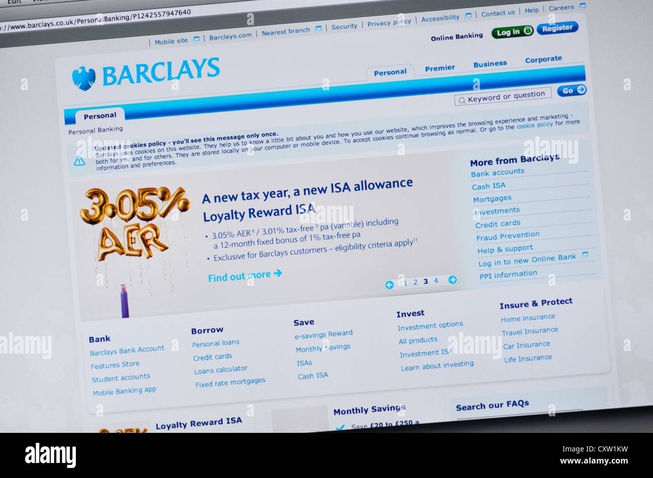 Barclays website - online banking Stock Photo: 50951933 - Alamy